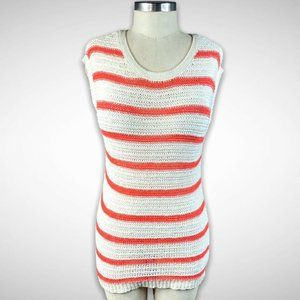 Old Navy Open Knit Sleeveless Striped Sweater Top